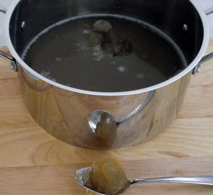 Beef Stock Showing the Gelatin