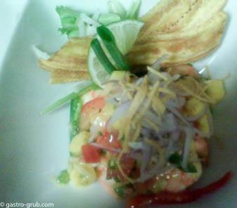 Shrimp ceviche.