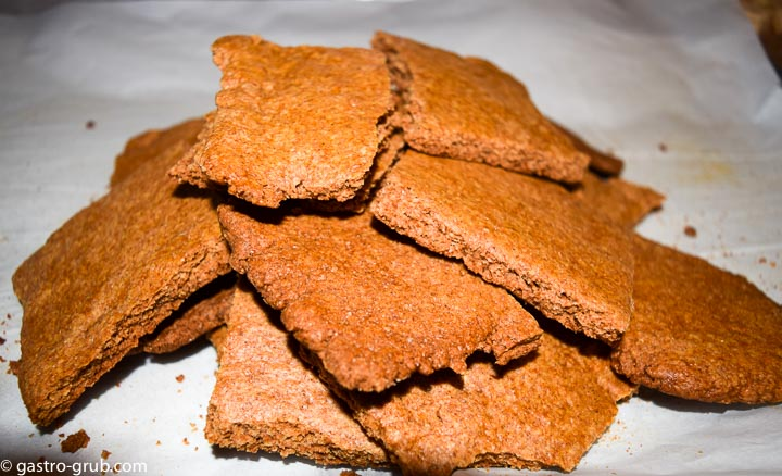 Rustic homemade graham crackers.