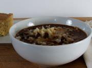 Black bean chili con carne.