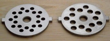 Fine and coarse grinder plates