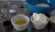 Ingredients for molasses cookie recipe.