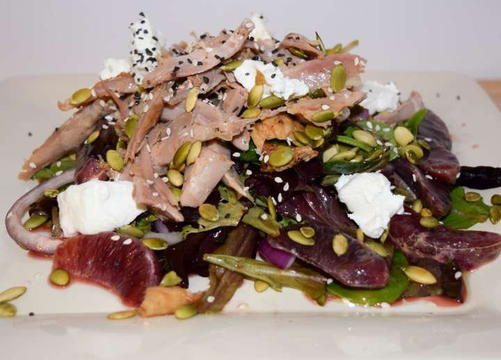 Picture of my roasted duck salad.
