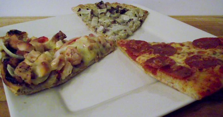 Smoked Chicken Pizza, Pepperoni Pizza, And Belgian Endive Pizza