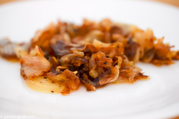 Caramelized onion on a plate.