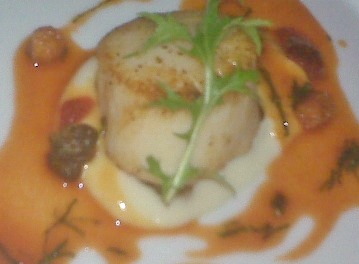 Scallop in a citrus gastrique