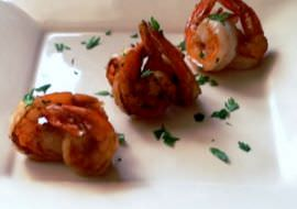 Pan fried shrimp.
