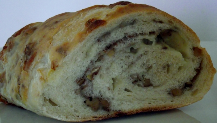 Blue cheese walnut sourdough bread.