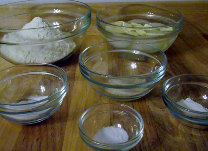 Mise en place for my buttermilk biscuits recipe.