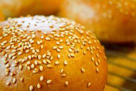 Sesame seed burger bun.