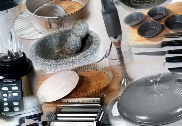 kitchen gadget collage